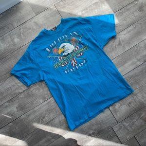 vintage single stitch blue Harley Davidson t-shirt
